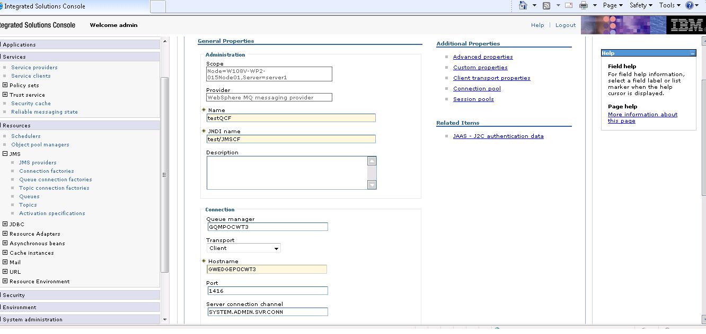 WebSphere MQ integration Example